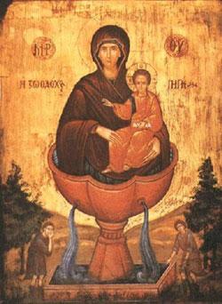 """икона Божией Матери """"Живоносный Источник"""""""
