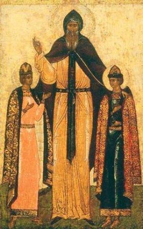 Святой благоверный Феодор Смоленский и чада его Давид и Константин