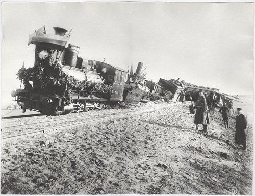 17 октября / 30 октября 1888 года - Императорский поезд, в котором находились Государь Александр III и его Семья, потерпел крушение под станцией Борки Курско-Харьковско-Азовской железной дороги.