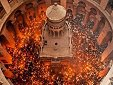 Схождение Благодатного огня в 2018 г.: прямой репортаж греческого телевидения